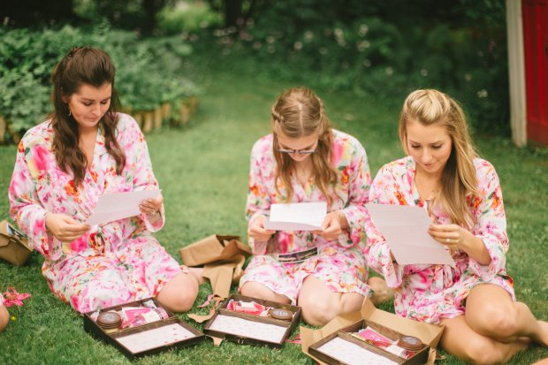 Bridesmaids Opening Gifts